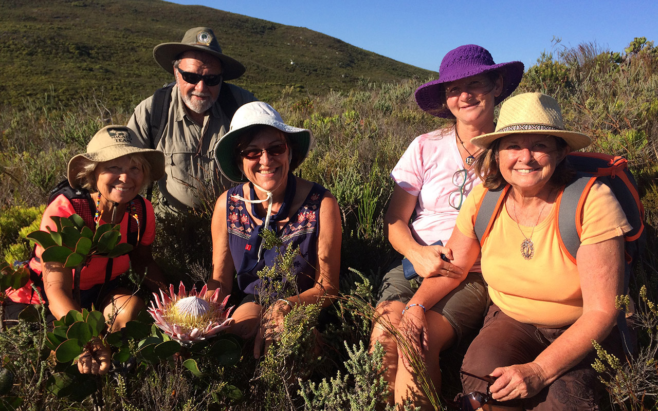 hiking on Fynbos Trail