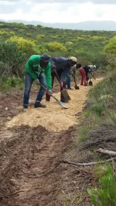 conservancy team at work on Klipspringer mtb
