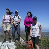 Hikers at the summit of Grootberg